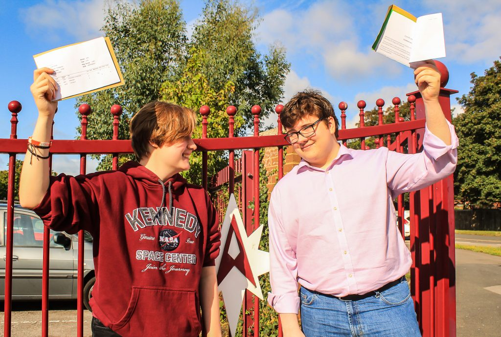 Brother and sister Kaylyn and Jonathon Snellgrove both achieved highly after studying at The Arnewood School Sixth Form. Kaylyn received an A* in maths, an A in physics and chemistry, while Jonathon scored an A in maths and computer science and a B in further maths.