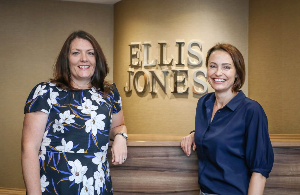 PROMOTION: Katy Sewell, Associate Solicitor (left) with Carla Brown, Partner and Head of Wills, Trusts and Probate at Ellis Jones
