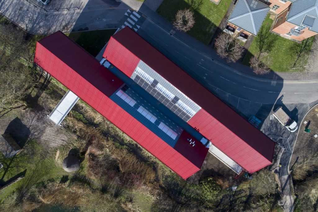 HIGHSCHOOL : An aerial view of Marlborough College's new £3.5m Innovation Centre, built by Brymor Construction