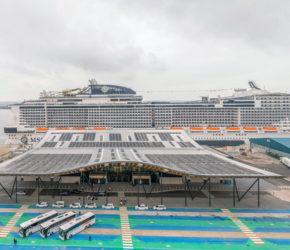 Flagship terminal cruises into action