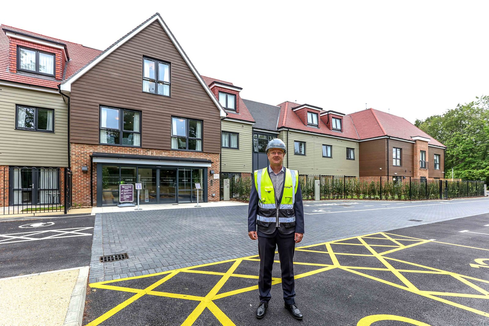 HOME: Brymor Construction contracts manager Steve Perkins outside completed care home Ancasta Grove in Hampshire